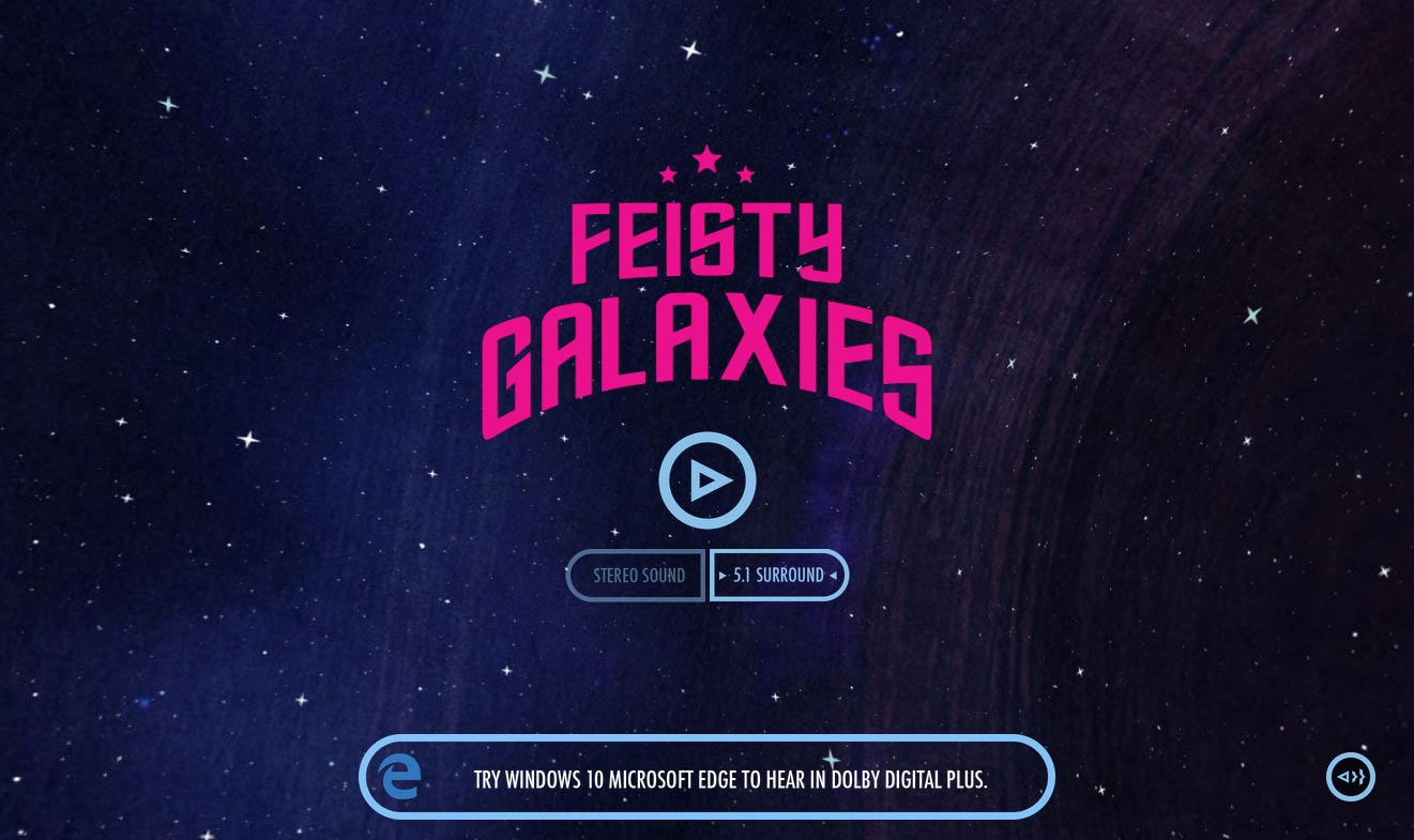 Feisty Galaxies Title
